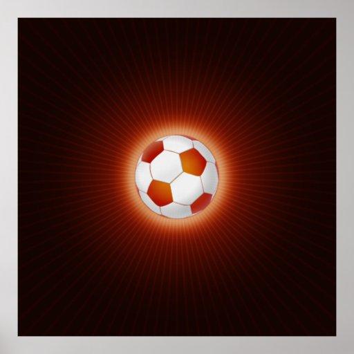 Balón de fútbol (fútbol) posters
