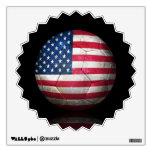 Balón de fútbol gastado de fútbol de bandera ameri