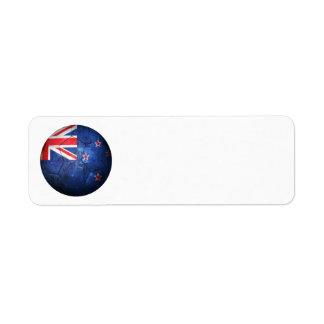 Balón de fútbol gastado de fútbol de bandera de Nu Etiquetas De Remite
