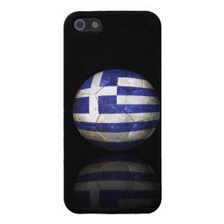 Balón de fútbol griego gastado de fútbol de bander iPhone 5 protector