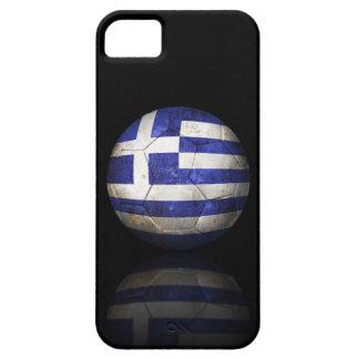 Balón de fútbol griego gastado de fútbol de iPhone 5 funda