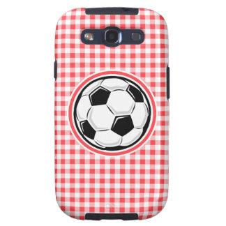 Balón de fútbol; Guinga roja y blanca Galaxy SIII Coberturas