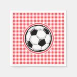 Balón de fútbol; Guinga roja y blanca Servilleta Desechable