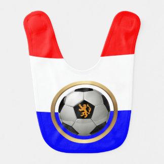 Balón de fútbol holandés con el león holandés babero de bebé