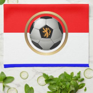 Balón de fútbol holandés con el león holandés toallas de cocina