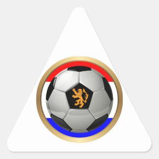 Balón de fútbol holandés con el león holandés calcomanías triangulos personalizadas