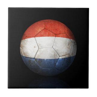 Balón de fútbol holandés gastado de fútbol de band azulejos cerámicos