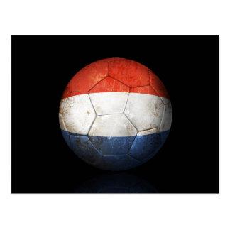 Balón de fútbol holandés gastado de fútbol de band postal