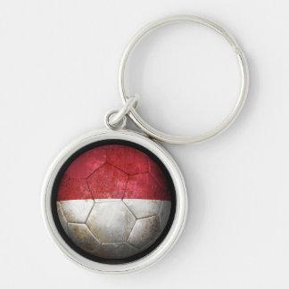 Balón de fútbol indonesio gastado de fútbol de ban llavero personalizado