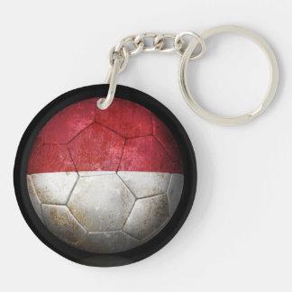 Balón de fútbol indonesio gastado de fútbol de ban llavero