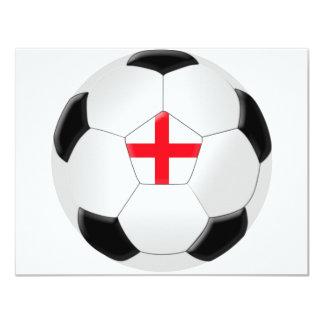 """Balón de fútbol - Inglaterra Invitación 4.25"""" X 5.5"""""""