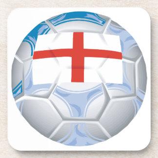 Balón de fútbol inglés posavasos de bebida