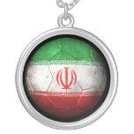 Balón de fútbol iraní gastado de fútbol de bandera joyería