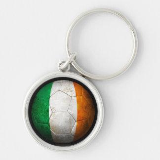 Balón de fútbol irlandés gastado de fútbol de band llavero