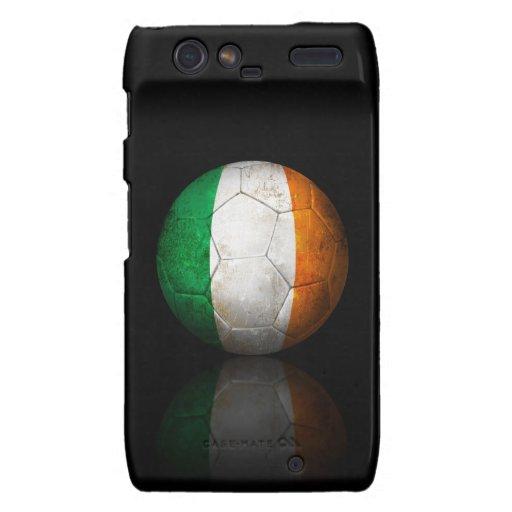 Balón de fútbol irlandés gastado de fútbol de droid RAZR carcasa