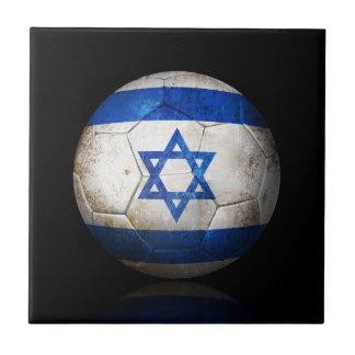 Balón de fútbol israelí gastado de fútbol de bande tejas  cerámicas