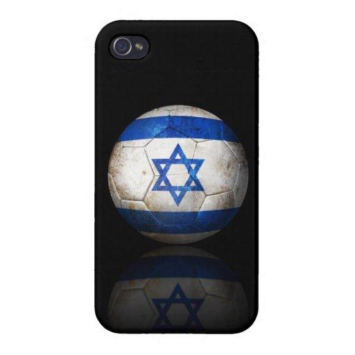 Balón de fútbol israelí gastado de fútbol de bande iPhone 4 carcasa