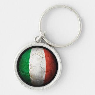 Balón de fútbol italiano gastado de fútbol de band llaveros personalizados