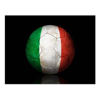 Balón de fútbol italiano gastado de fútbol de band postal