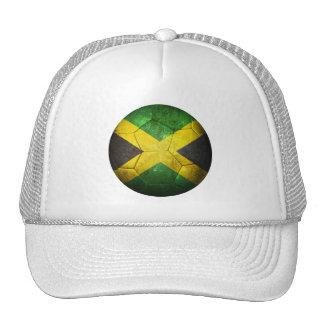 Balón de fútbol jamaicano gastado de fútbol de ban gorras de camionero