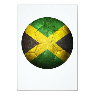 Balón de fútbol jamaicano gastado de fútbol de invitación 8,9 x 12,7 cm
