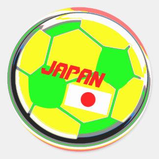 Balón de fútbol Japón Pegatina Redonda