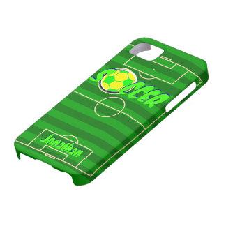 Balón de fútbol Jonatán conocido adaptable iPhone 5 Cárcasas