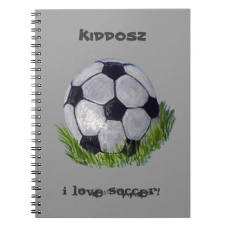 Balón de fútbol libretas espirales