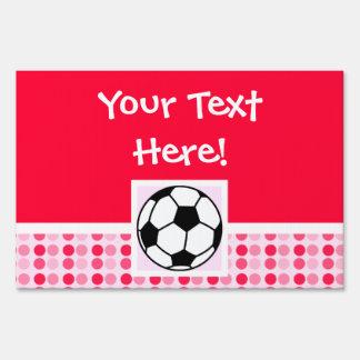 Balón de fútbol lindo letrero