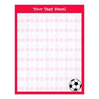 Balón de fútbol lindo membrete
