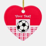 Balón de fútbol lindo ornamento para reyes magos