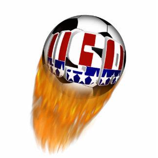 Balón de fútbol llameante de los E.E.U.U.
