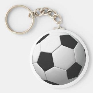 Balón de fútbol: llavero redondo tipo pin