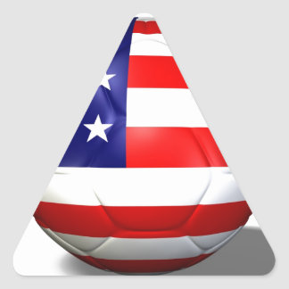 balón de fútbol los E.E.U.U. Pegatina De Triangulo Personalizadas