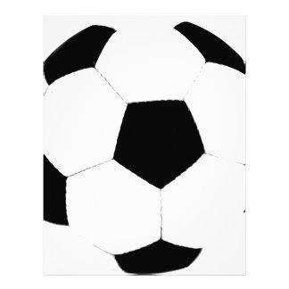 Balón de fútbol plantilla de membrete