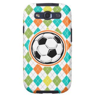 Balón de fútbol; Modelo colorido de Argyle Samsung Galaxy S3 Carcasa