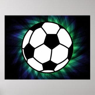 Balón de fútbol poster
