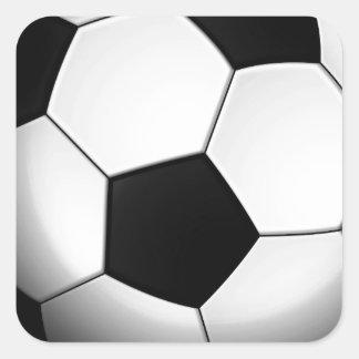 Balón de fútbol pegatinas cuadradas