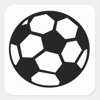 Balón de fútbol calcomanía cuadrada personalizada