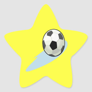 Balón de fútbol pegatinas forma de estrella personalizadas