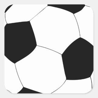 Balón de fútbol calcomania cuadradas personalizada
