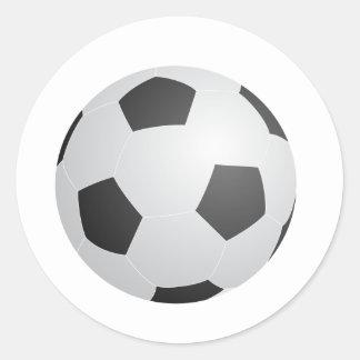 Balón de fútbol etiqueta redonda