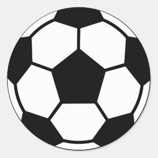 Balón de fútbol pegatinas redondas