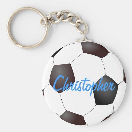 Balón de fútbol - personalizable llavero redondo tipo pin