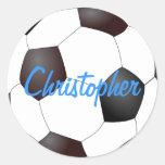 Balón de fútbol - personalizable pegatinas redondas