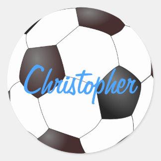 Balón de fútbol - personalizable pegatina redonda