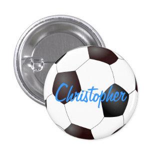 Balón de fútbol - personalizable pin redondo de 1 pulgada