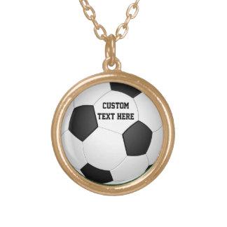 Balón de fútbol personalizado collar dorado