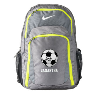 Balón de fútbol personalizado con nombre y número mochila