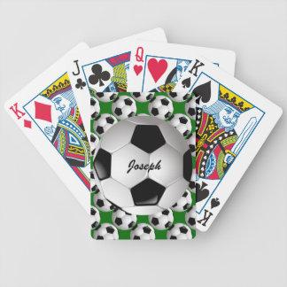Balón de fútbol personalizado en modelo del fútbol barajas de cartas
